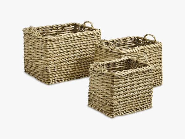 Nature storage baskets, rectangel, S/3 fra Nordal
