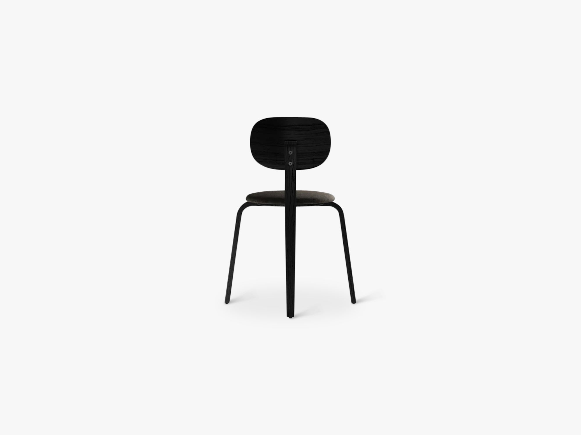 Afteroom Plywood Chair, Black Ash/Black Ash/Moss 014 fra Menu