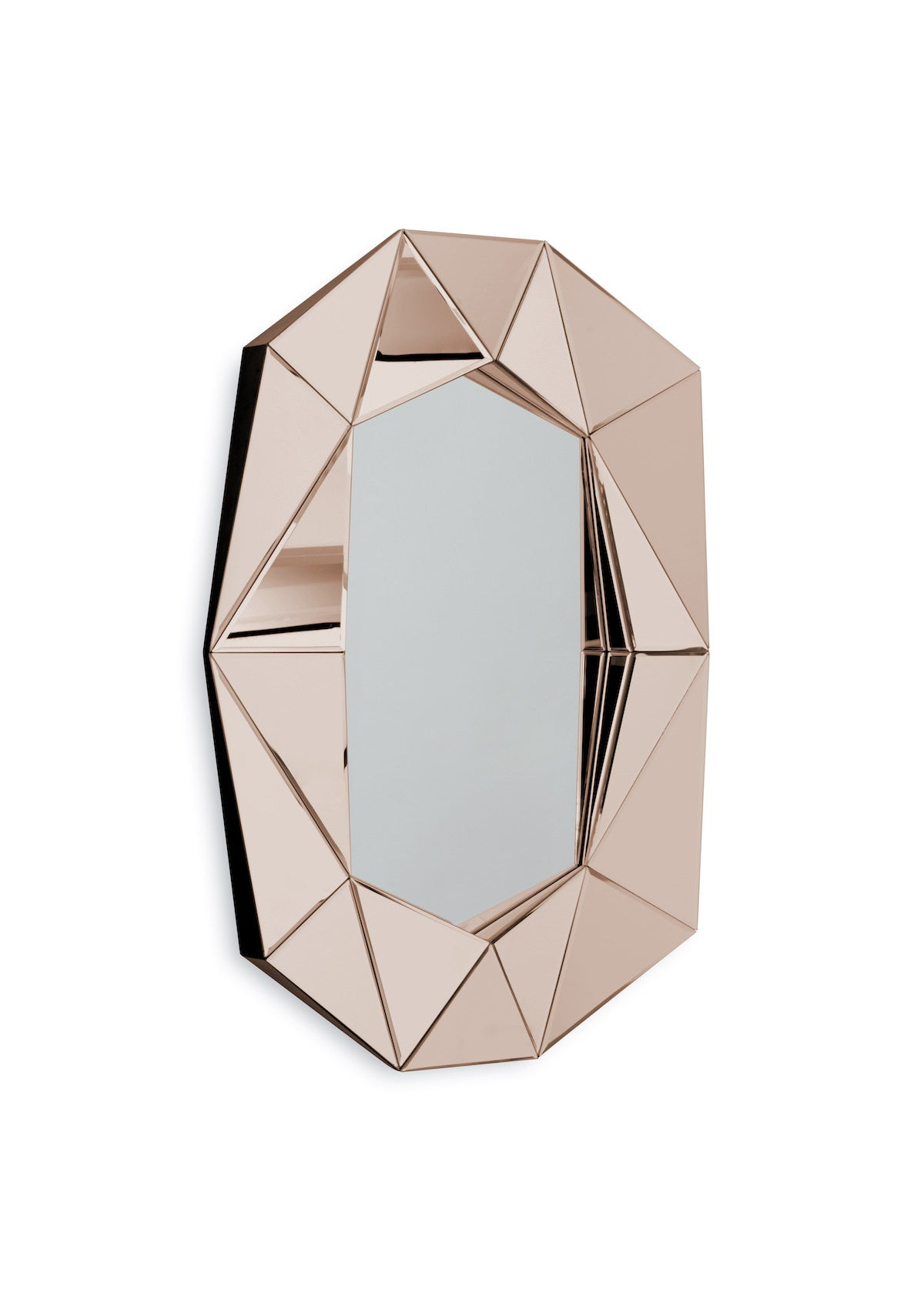 Diamond mirror large, Rosegold/Silver fra Reflections Copenhagen