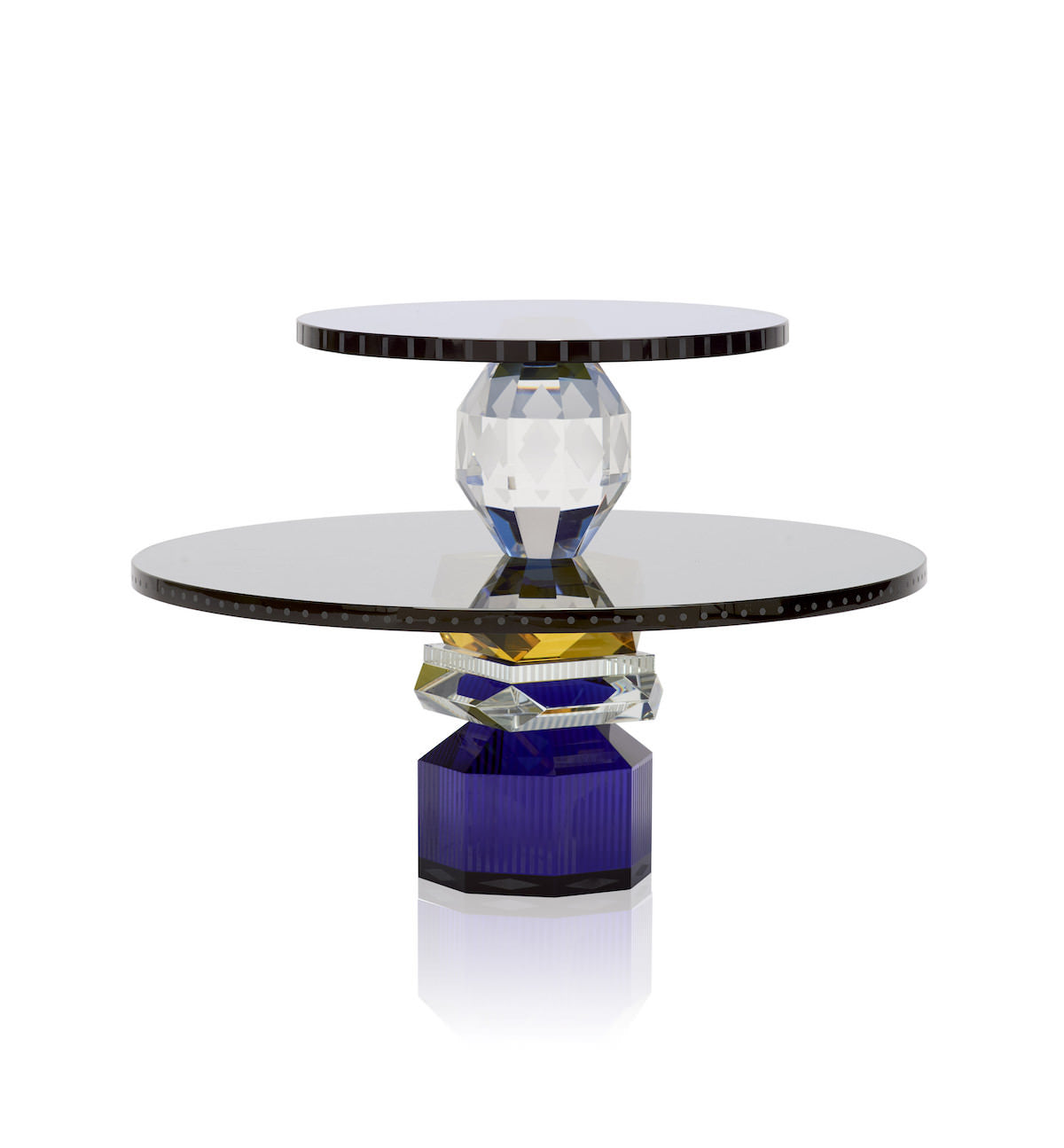 Dallas Tray, Cobalt/Clear/Black/Yellow fra Reflections Copenhagen