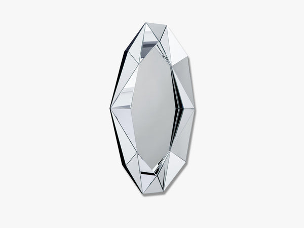 Diamond mirror XL, Silver/Silver fra Reflections Copenhagen