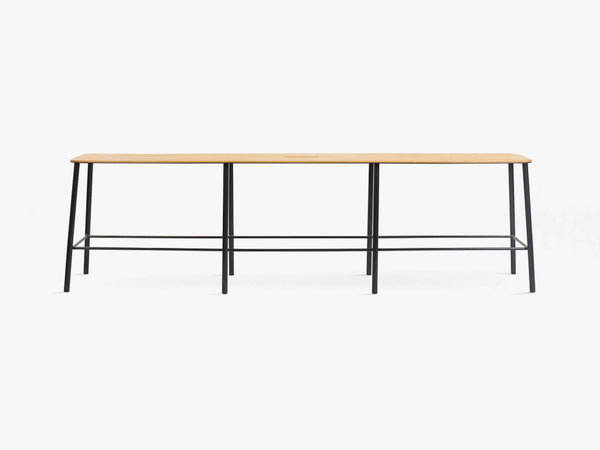 Adam Bench L160, Matt Black fra FRAMA
