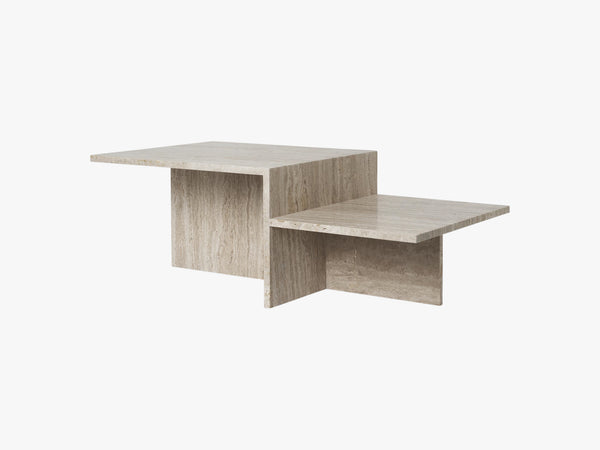 Distinct Coffee Table, Travertine fra Ferm Living