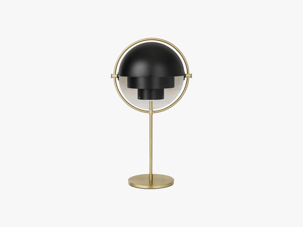 Multi-Lite Table Lamp, Brass/Black Semi Matt fra GUBI