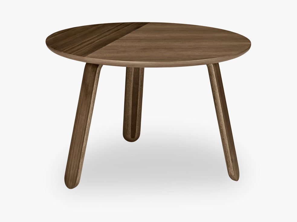 Paper Coffee Table - Dia 60, Walnut base, Walnut top fra GUBI