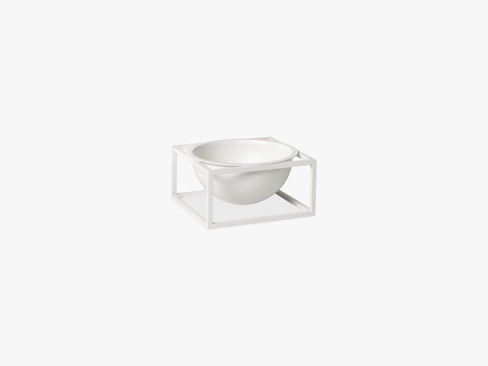 Kubus Bowl centerpiece small, white fra By Lassen