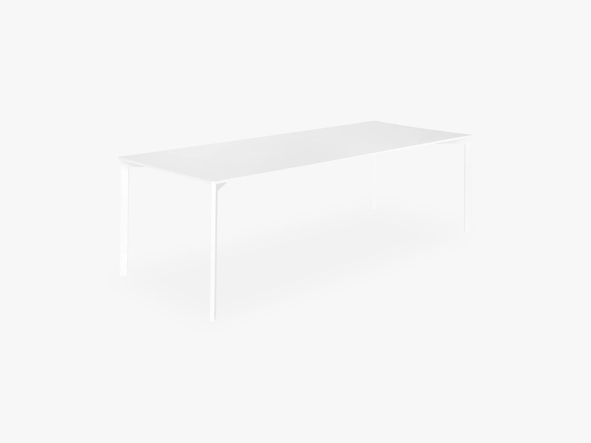Y! Dining Table Laminate, White top fra GUBI