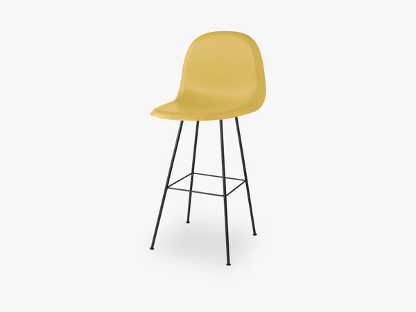 3D Counter Chair - Un-upholstered - 65 cm Center Black base, Venetian Gold shell fra GUBI