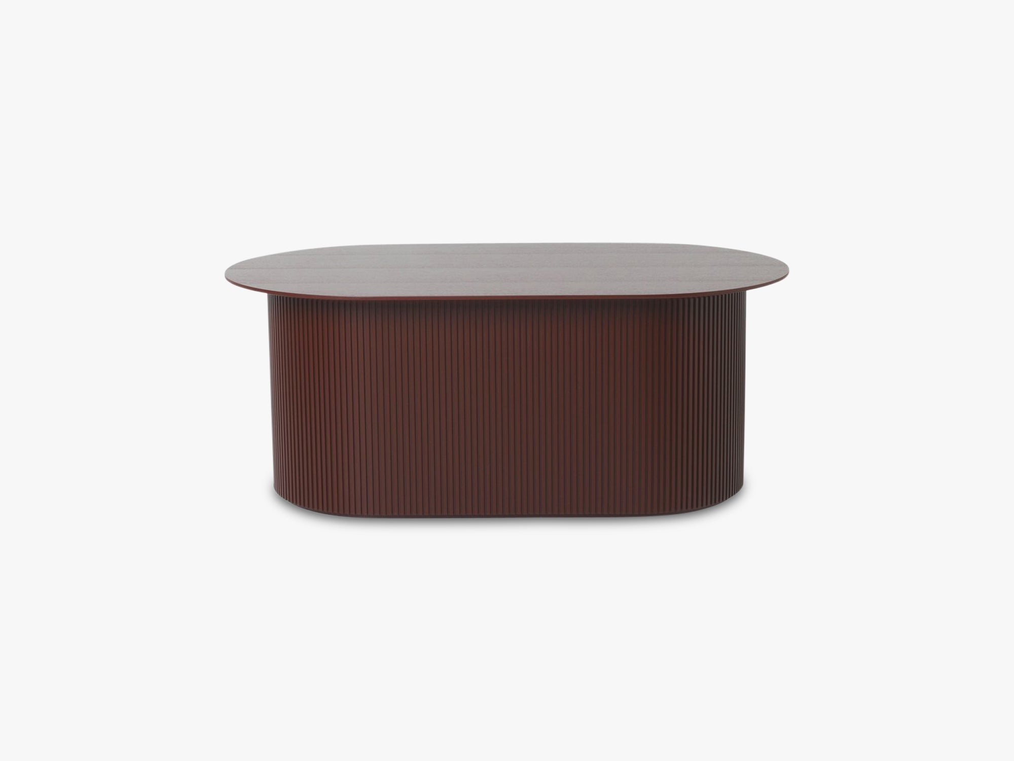 Podia Table Oval, Red Brown fra Ferm Living