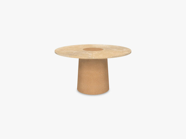 Sintra Dining Table Ø135, Yellow Limestone fra FRAMA