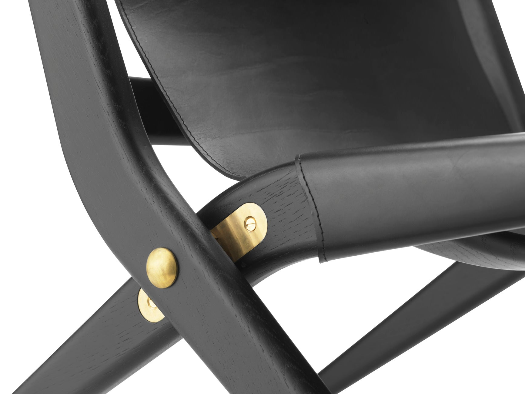 Saxe chair, blackstained oak/black leather fra By Lassen
