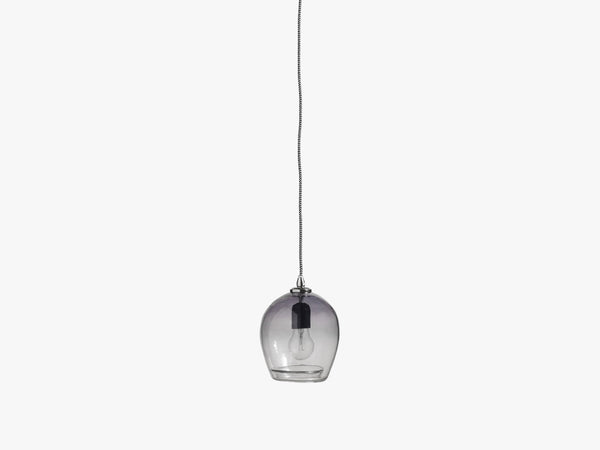 BUBBLE glass lamp, smoke, small h-17 cm fra Nordal