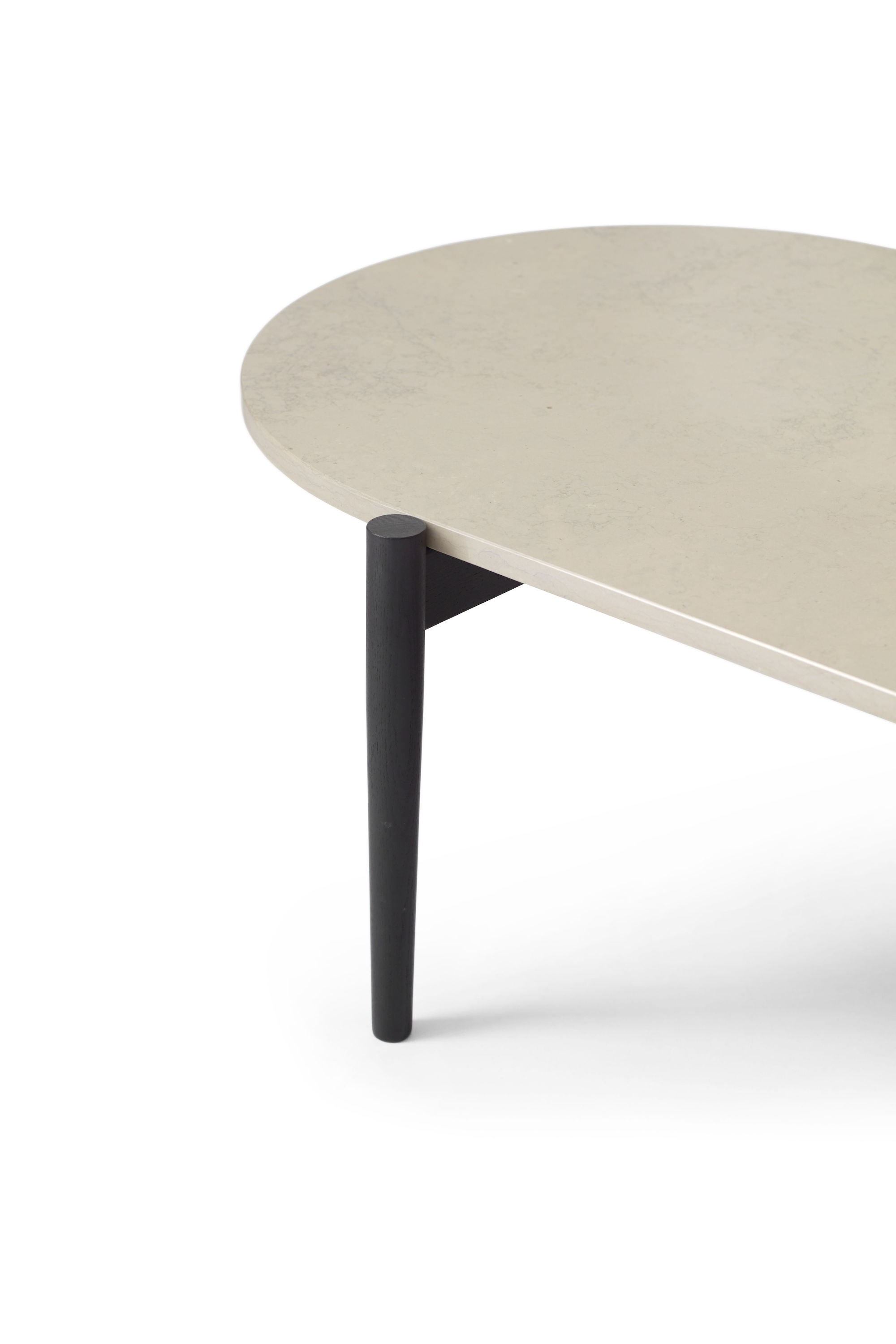 Septembre Coffee Table, Black ash/grey marble fra Menu