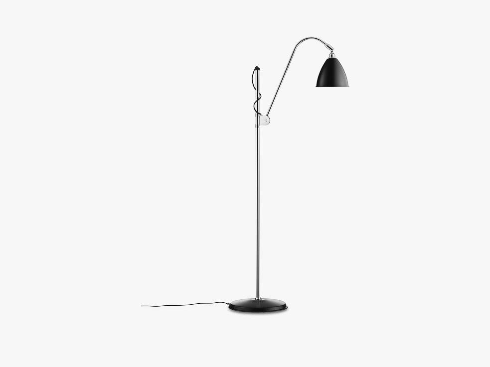 Bestlite BL3 Floor Lamp - Ø16 - Crome Base, Black fra GUBI