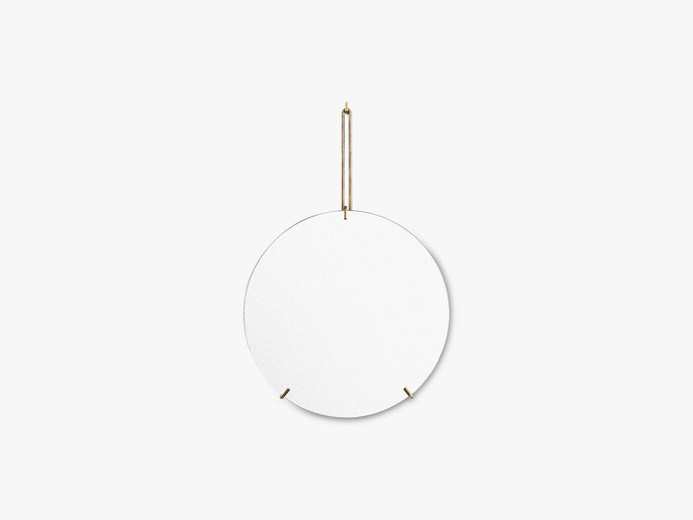 WALL MIRROR, BRASS fra Moebe