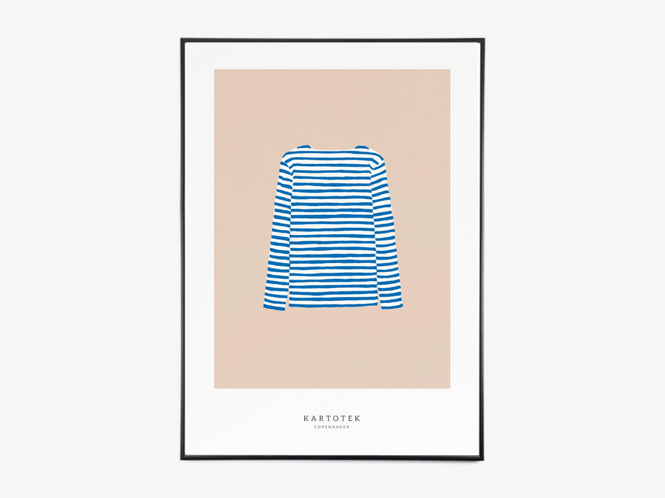 A5 card / Sweater blue fra Kartotek Copenhagen