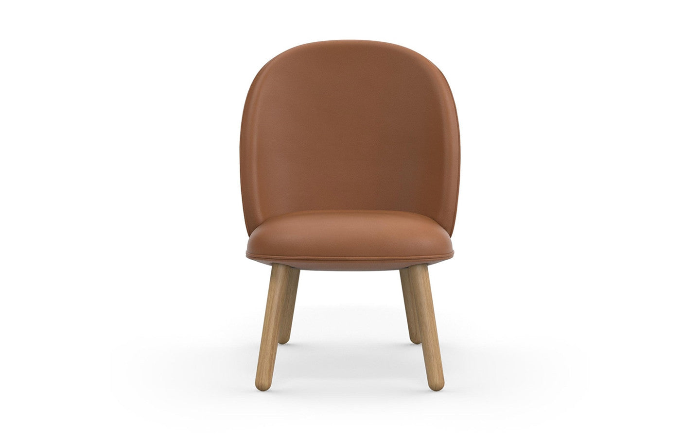 Ace Lounge Chair Tango Leather - Brandy fra Normann Copenhagen