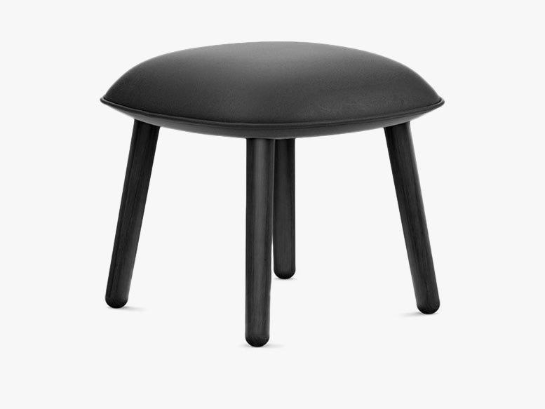 Ace Footstool Tango Leather - Black fra Normann Copenhagen