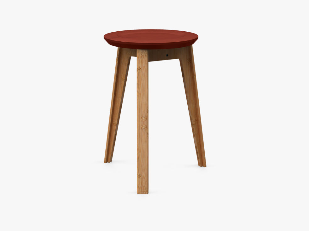 Button Stool, Rust Red fra We Do Wood