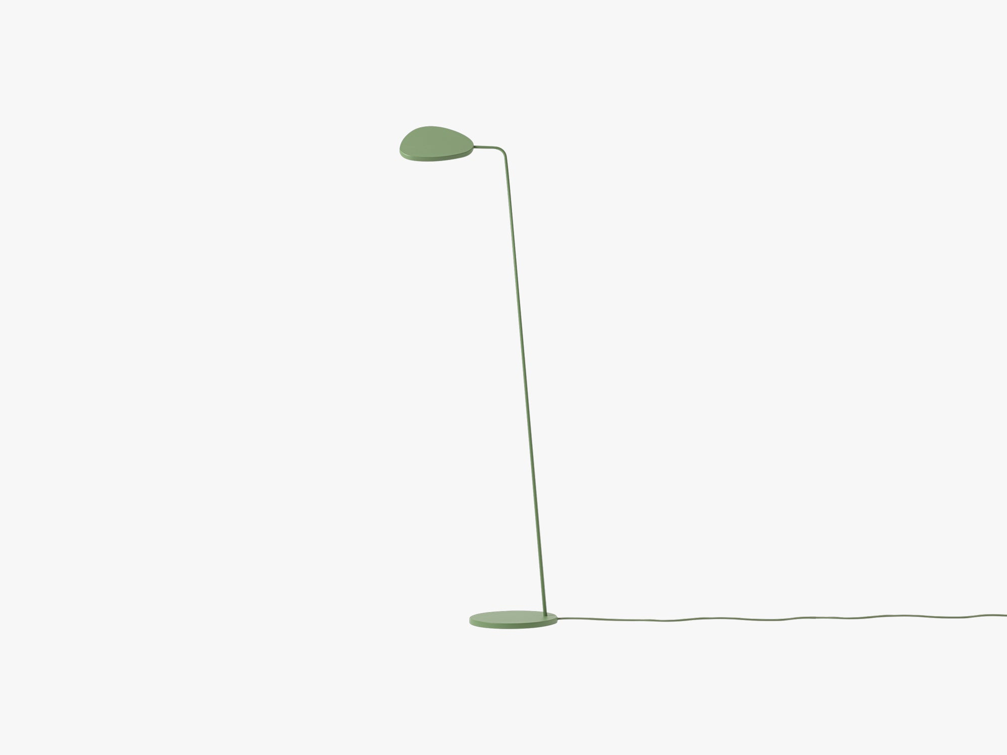 Leaf Floor Lamp, Green fra Muuto