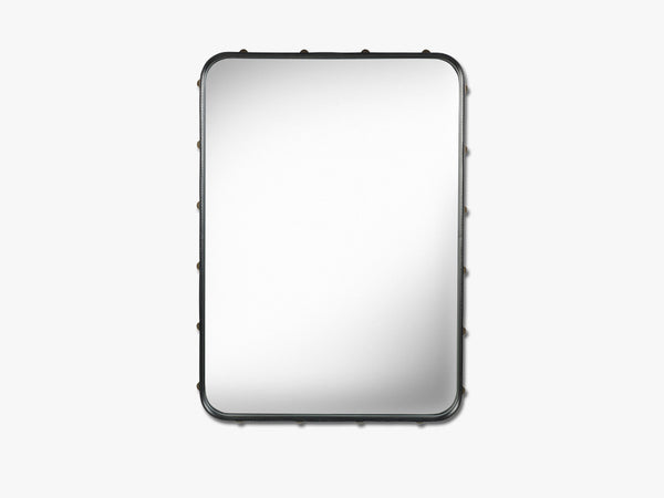Adnet Wall Mirror - Rectangular, Black fra GUBI