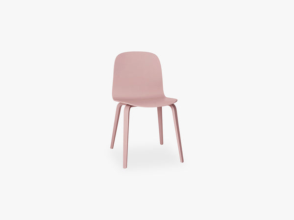 Visu Chair - Wood Base - Wood Shell, Rose fra Muuto