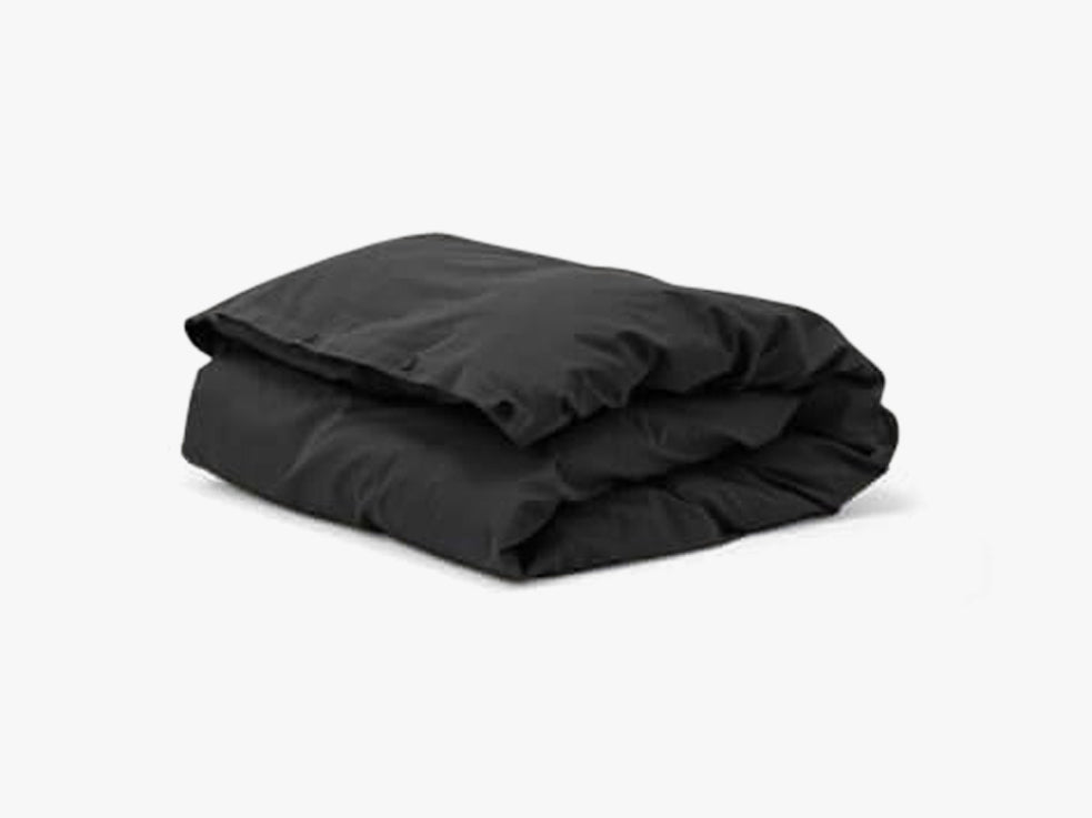 Duvet Cover, Ash black single fra Tekla Fabrics