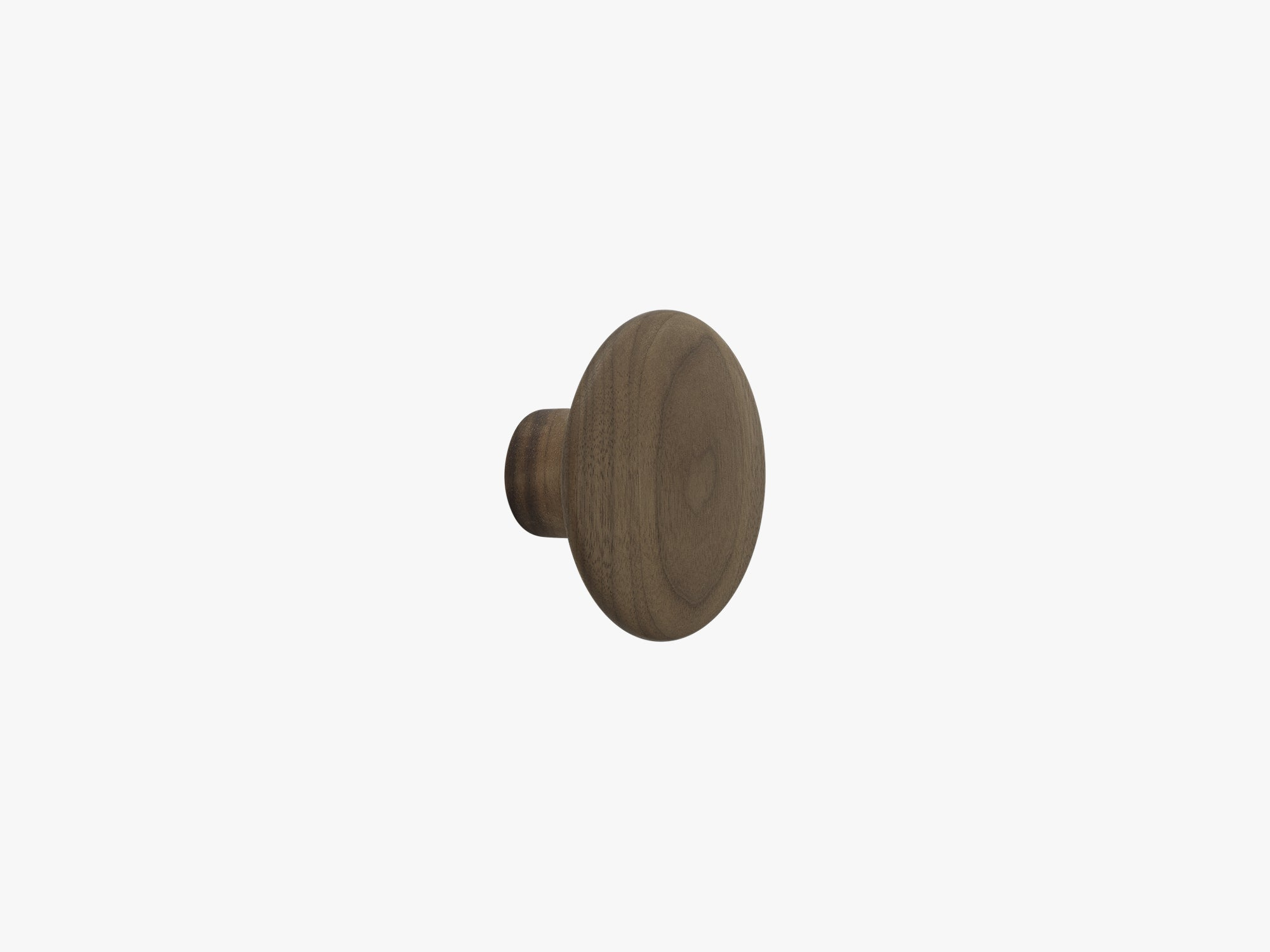 The Dots Coat Hooks - Small, Walnut fra Muuto