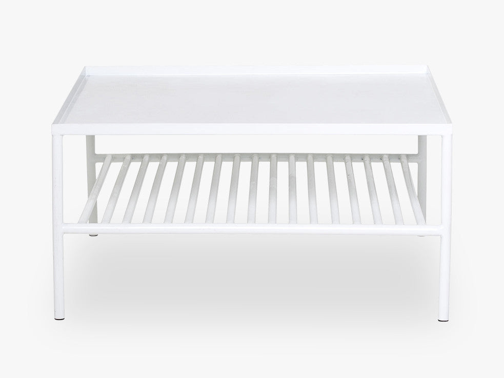 Grid Coffee Table, Matte White fra Bloomingville