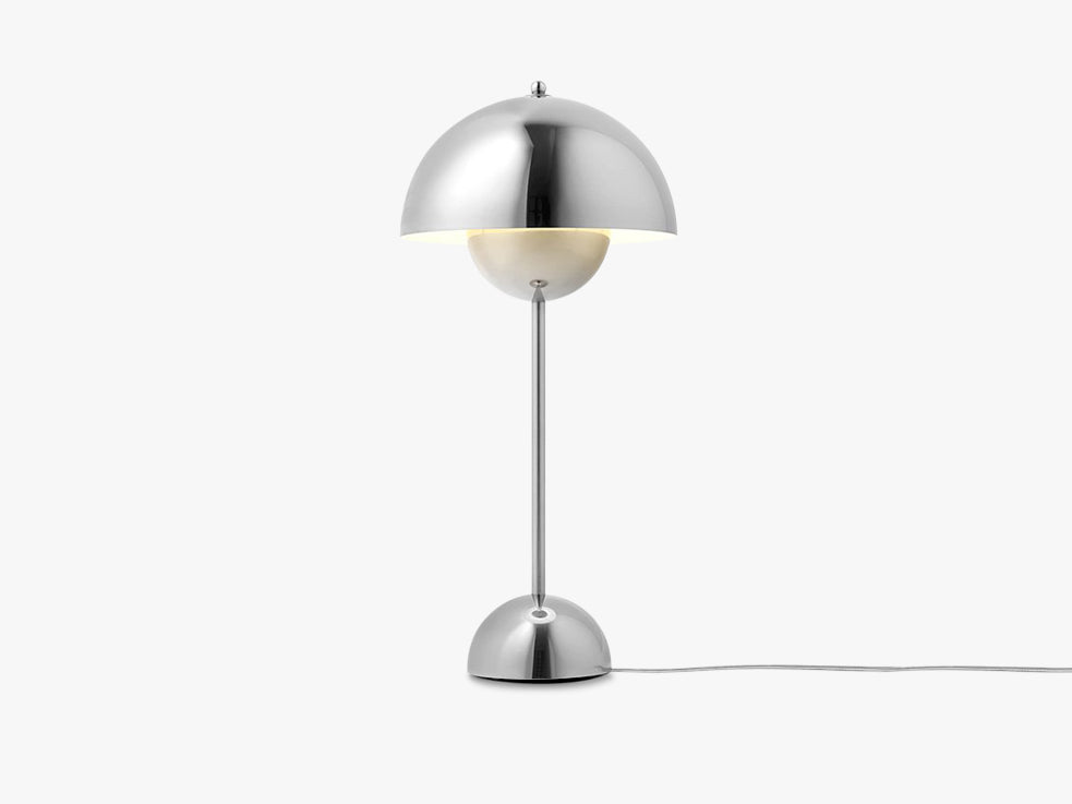 Flowerpot Table Lamp - VP3, Polished Stainless fra &tradition