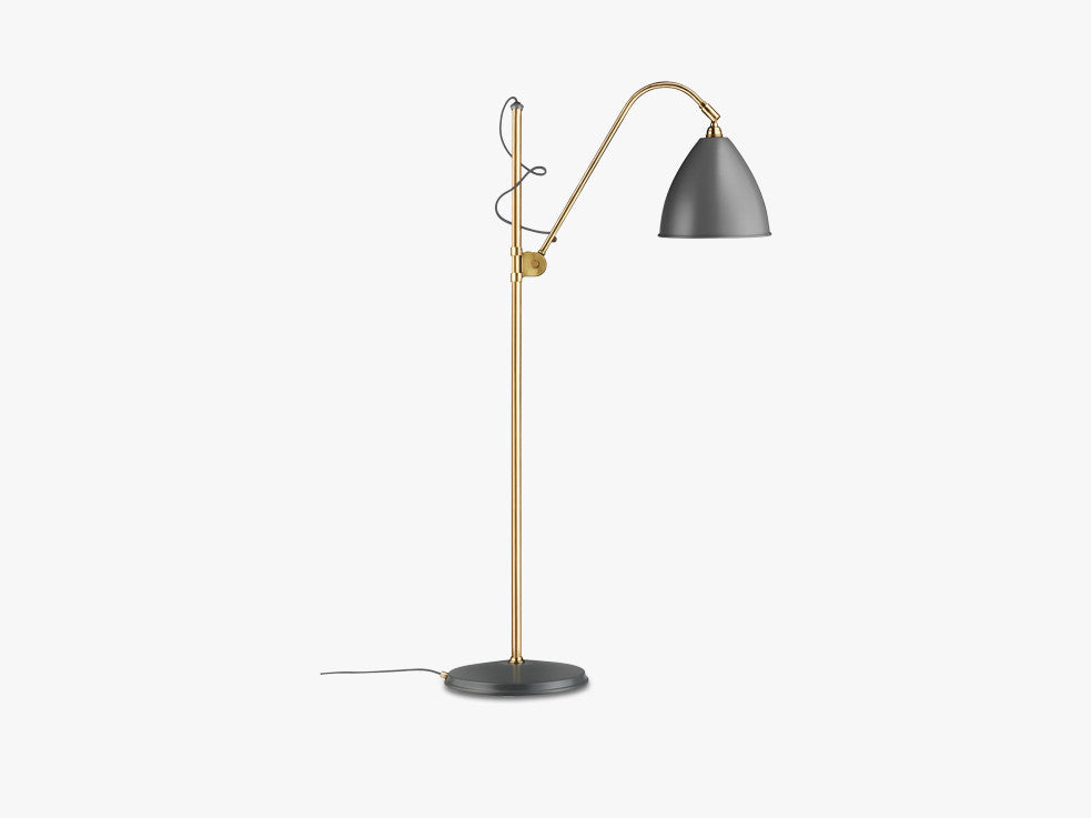 Bestlite BL3 Floor Lamp - Ø21 - Brass Base, Grey fra GUBI