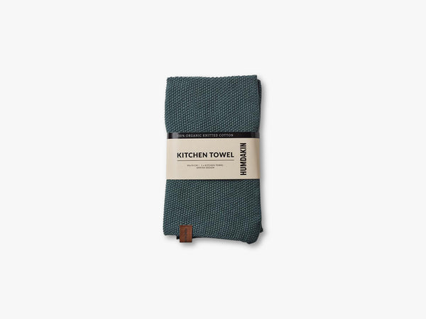Knitted Kitchen Tea Towels, Green Seaweed fra HUMDAKIN