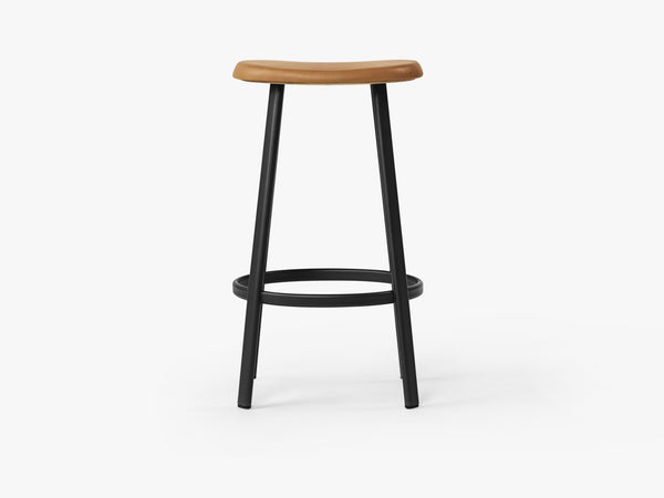 Anno Stool H75, Black/Cognac Leather fra MILLION