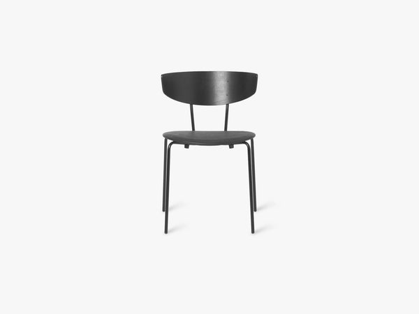 Herman Chair, Black/Seat Black Leather fra Ferm Living