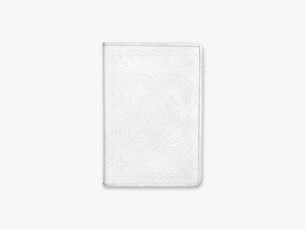 Notebook, embossed leather, white, small fra Nordal