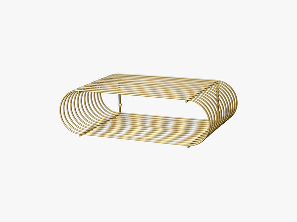CURVA shelf gold, one size fra AYTM