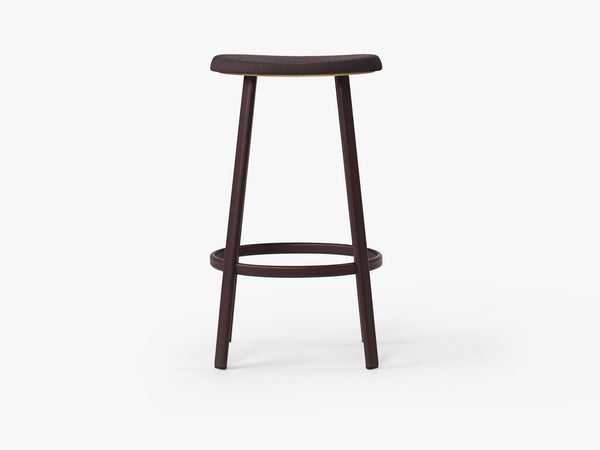Anno Stool H75, Burgundy/ Burgundy Red Textile fra MILLION
