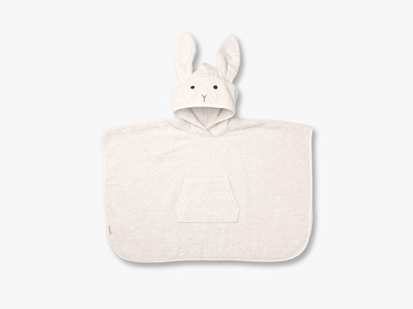 Orla Poncho Rabbit Solid, Sweet Rose fra Liewood