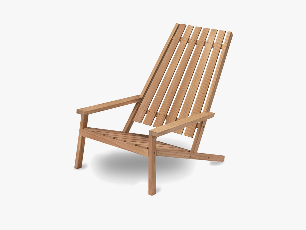 Between Lines Deck Chair, Teak fra SKAGERAK