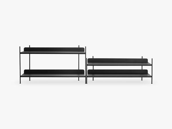 Compile Shelving System / Configuration 5, Black fra Muuto