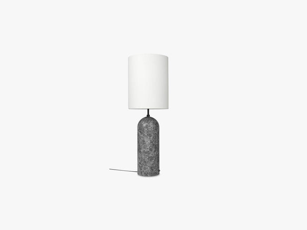 Gravity Floor Lamp - XL High - Grey Marble base, White fra GUBI