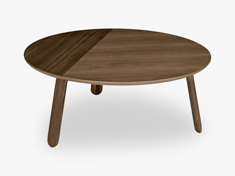 Paper Coffee Table - Dia 80, Walnut base, Walnut top fra GUBI