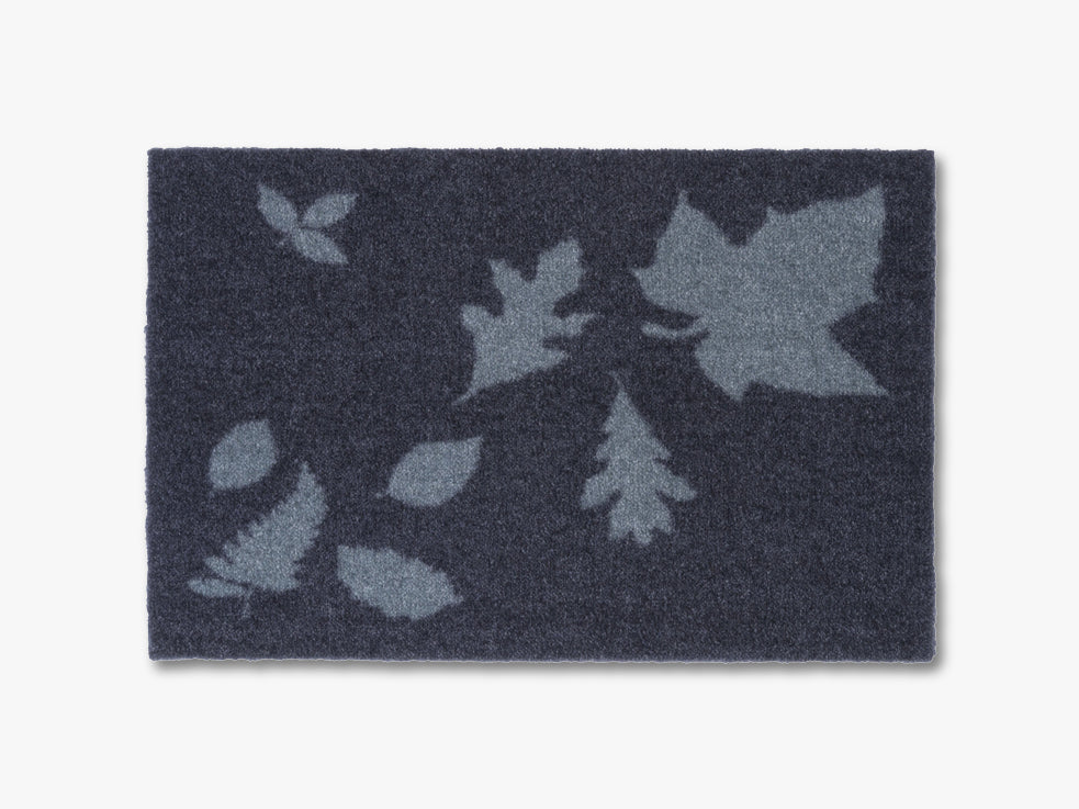 Floormat, 40x60 cm, mega leaves, blue/grey fra tica copenhagen
