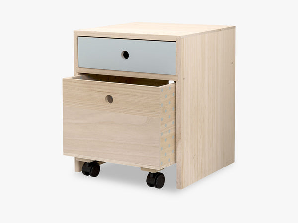 Bedside Table, Blue, Paulownia fra Bloomingville
