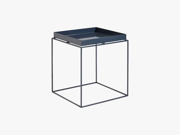 Tray Table - Medium, Deep Blue - High gloss fra HAY