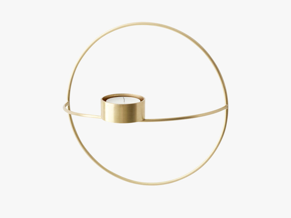 POV Circle, Tealight Candle Holder, S, Brass fra Menu