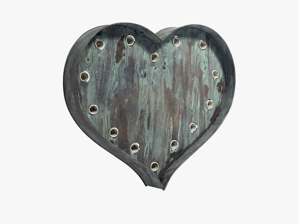 HEART lamp for wall, rustic green fra Nordal