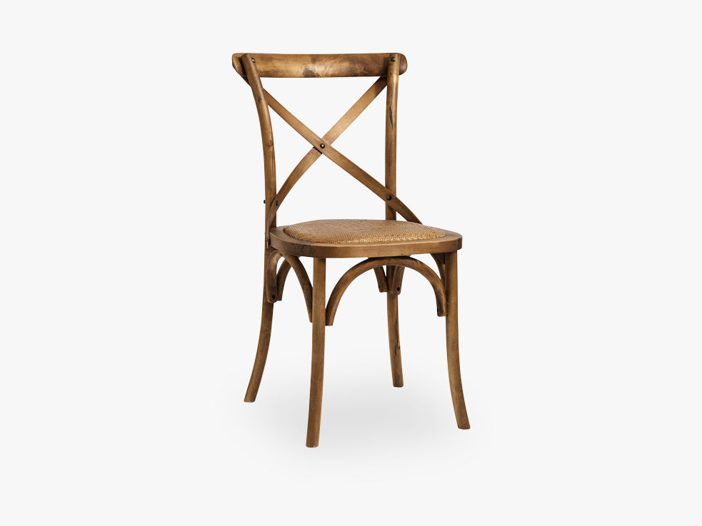 Dinner chair X, natural, wooden fra Nordal