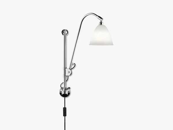 Bestlite BL5 Wall Lamp - Ø16 - Crome Base, Bone China fra GUBI