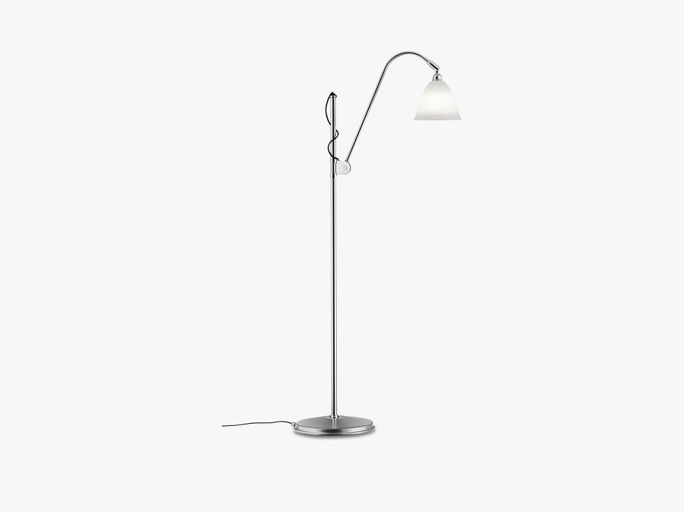 Bestlite BL3 Floor Lamp - Ø16 - Crome Base, Bone China fra GUBI